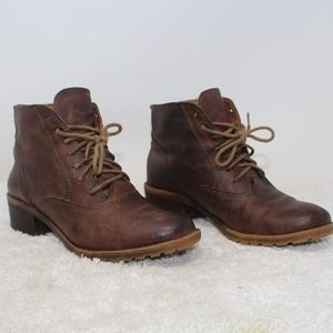 Lucky Brand GIORGIA Brown Leather Boots Size 6